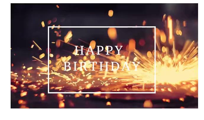 HAPPY BIRTHDAY Etiqueta template