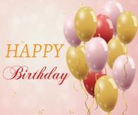 happy birthday Persegi Panjang Besar template
