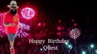 Happy Birthday Digitalt display (16:9) template