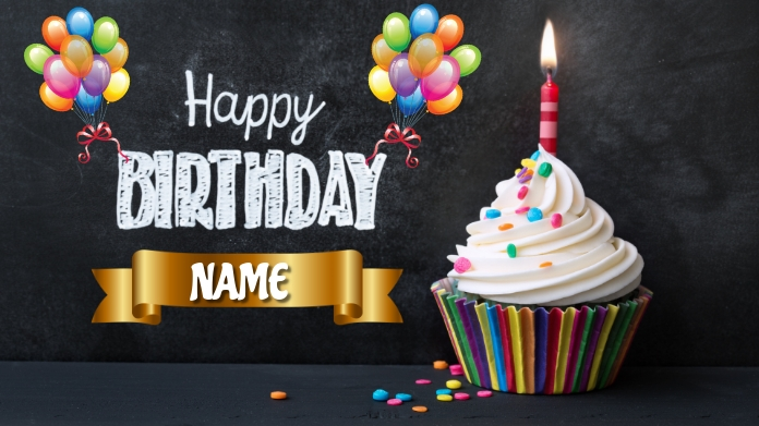 Happy Birthday Twitter Post template