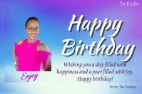 Happy Birthday Etiket template
