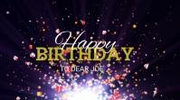 Happy Birthday Digital Display (16:9) template