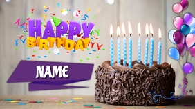 Happy Birthday Digital Display (16:9) template