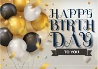 Happy Birthday Postal template