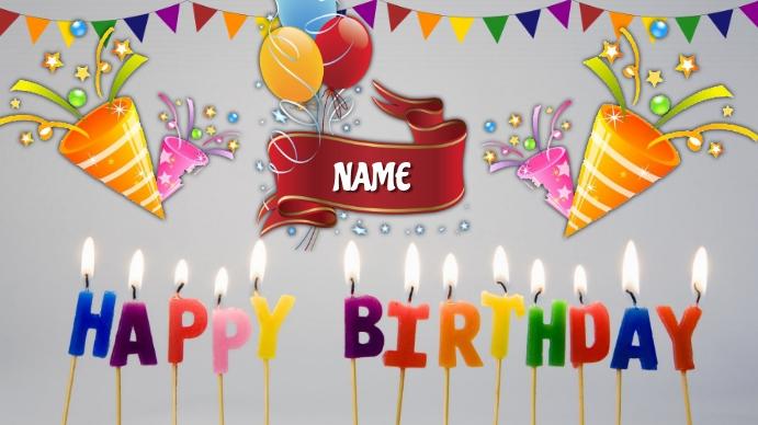 Happy Birthday Presentazione (16:9) template