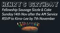 Happy Birthday Affichage numérique (16:9) template