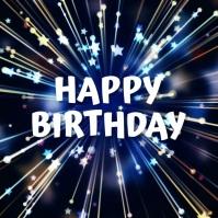 happy birthday Publicação no Instagram template