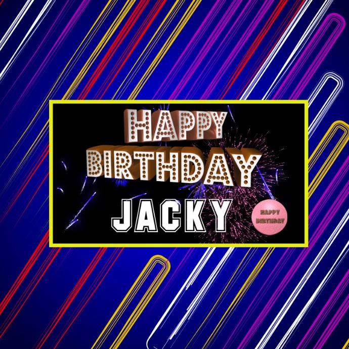 Happy Birthday Digital display