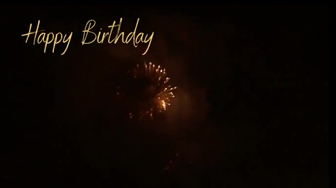 Happy birthday fireworks zoom background Presentazione (16:9) template