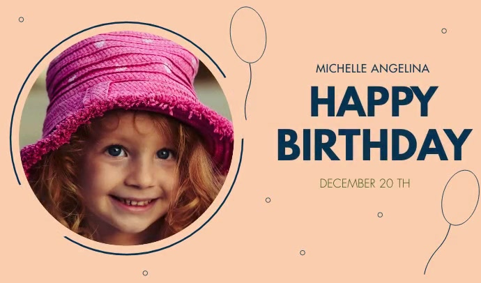 HAPPY BIRTHDAY FLYER Tag template
