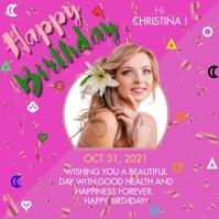 Happy Birthday Flyer Publicación de Instagram template