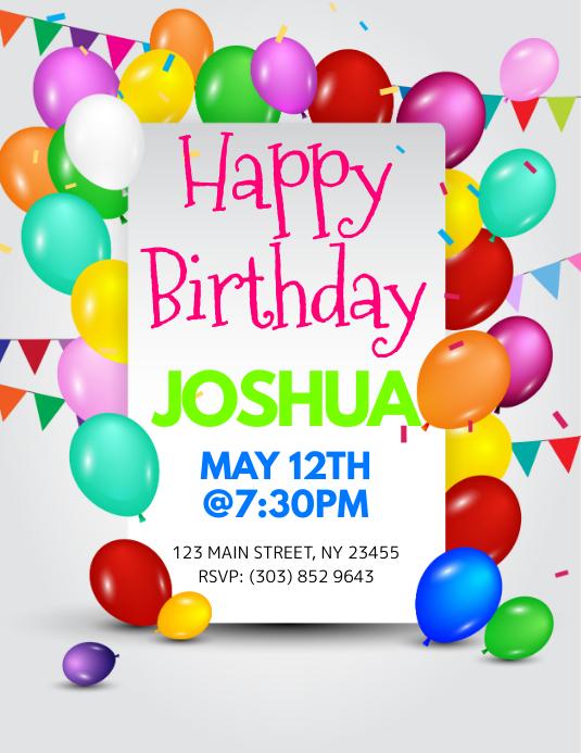 happy birthday flyer