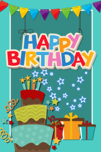 customizable design templates for happy birthday card postermywall