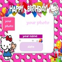 Happy Birthday frame Instagram-bericht template