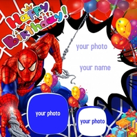 Happy Birthday frame Instagram-bericht template