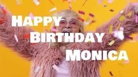 Happy Birthday funny Video Greeting Card wish Tampilan Digital (16:9) template