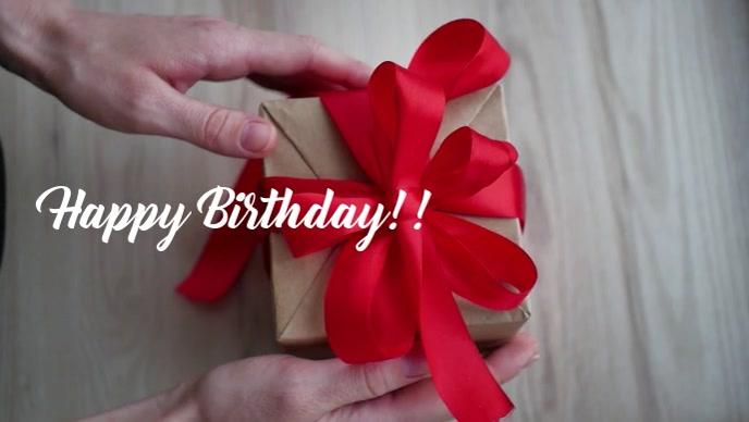 Happy birthday gift video template