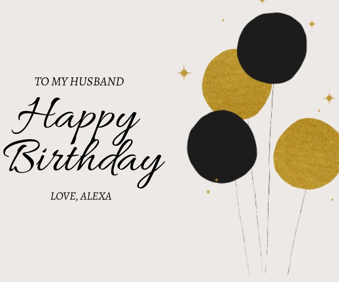 Happy Birthday Greeting Card Rectángulo Mediano template