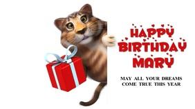Happy Birthday Greeting Card Video sweet Wish
