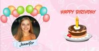 Happy Birthday Greeting Etiqueta template
