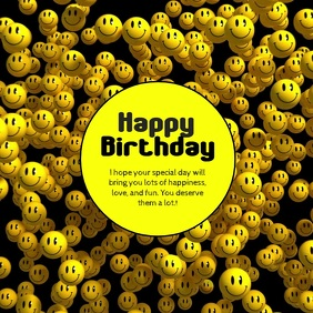 Happy Birthday Greeting Video funny Smileys