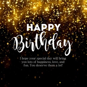 Happy Birthday Greeting Video Name Glam Gold