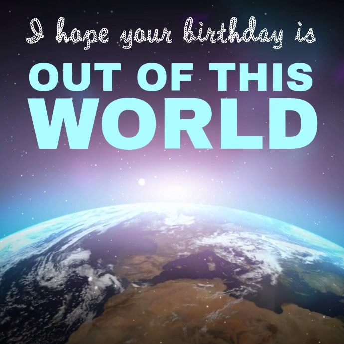 Happy birthday greeting video template postermywall happy birthday greeting video template m4hsunfo