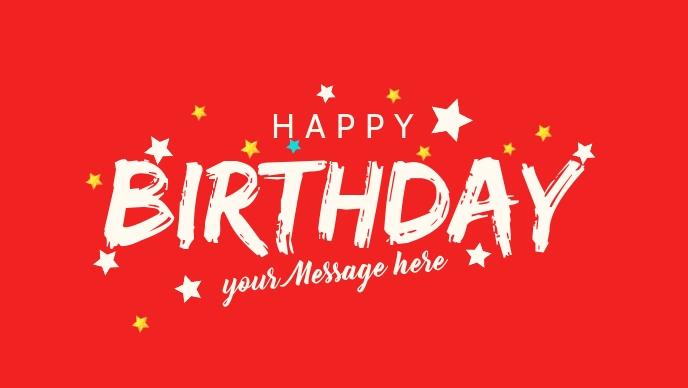 Happy Birthday Greetings Premium Template Vidéo de couverture Facebook (16:9)