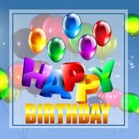 happy birthday instagram post template