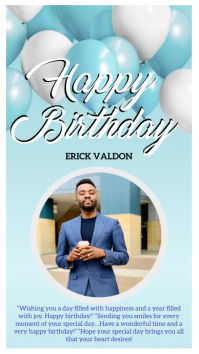 710 Happy Birthday Instagram Story Template Customizable Design Templates Postermywall