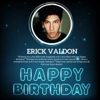 Happy birthday instagram story design templat template
