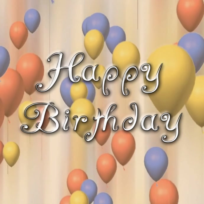 Happy Birthday Instagram video post template