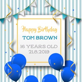 Happy Birthday Instagram Video Template