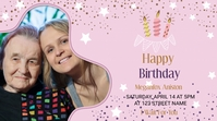 Happy Birthday Invitation Template Digital Display (16:9)