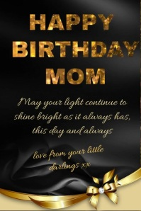 Happy Birthday MOM Poster template