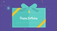 Happy birthday motion video Tampilan Digital (16:9) template