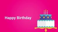 Happy birthday motion video 数字显示屏 (16:9) template