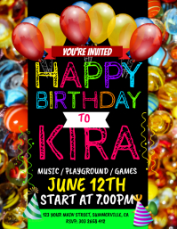 Customizable Design Templates for Birthday Party Flyer | PosterMyWall