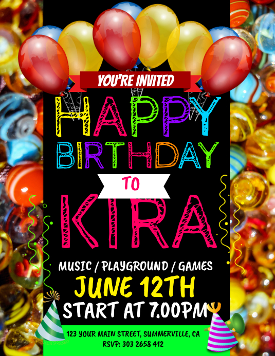 Happy Birthday Party Flyer Template