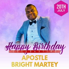 Happy Birthday Pastor