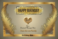 Happy Birthday Personalize Poster template