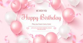 happy birthday poster Imagen Compartida en Facebook template