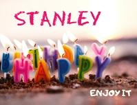 HAPPY BIRTHDAY POSTER TEMPLATE 传单(美国信函)