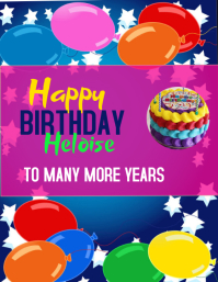 HAPPY BIRTHDAY POSTER TEMPLATE Ulotka (US Letter)