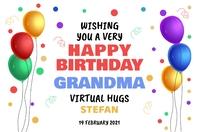 Happy Birthday Poster Template Cartaz