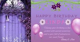 Happy Birthday Purple door