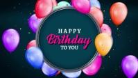 happy birthday Realistic style background Vídeo de capa do Facebook (16:9) template