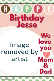 Happy Birthday Sign Personalized Customized Party Poster
