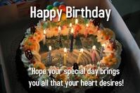 Happy birthday special wish design Póster template