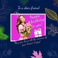 Happy Birthday Template Publicación de Instagram